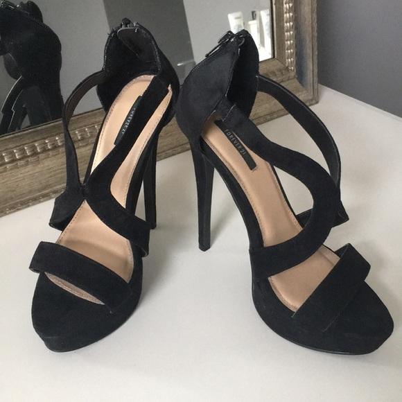 Shoes   Forever 2 Black Heels   Poshmark